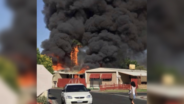 Kids survive catastrophic mobile home fire in Indio