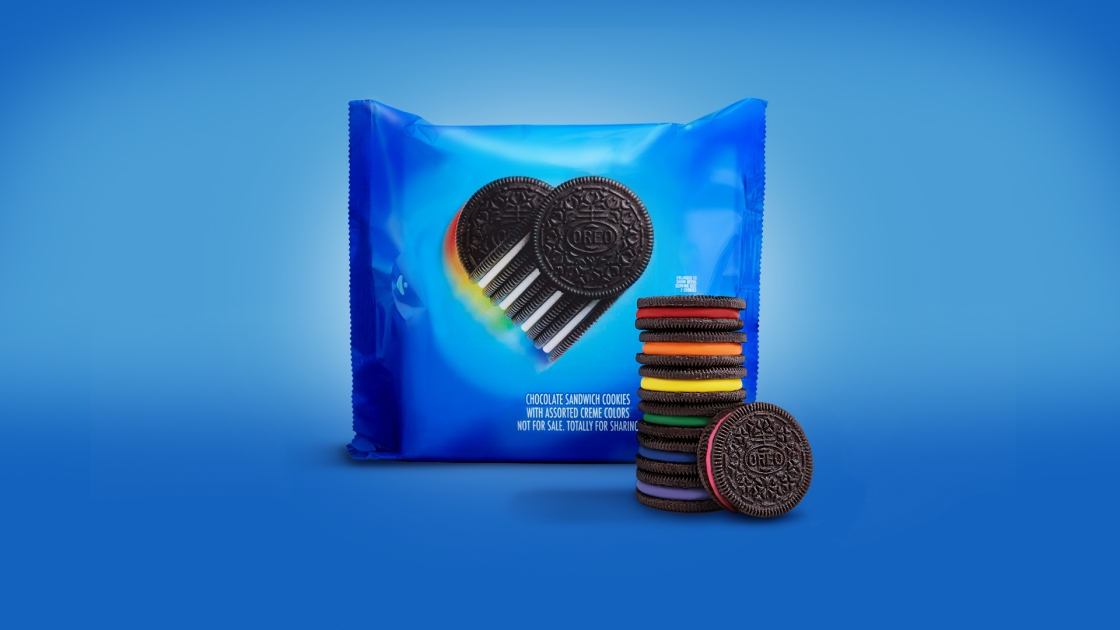 Oreo created limited edition rainbow cookies to celebrate LGBTQ+ History Month