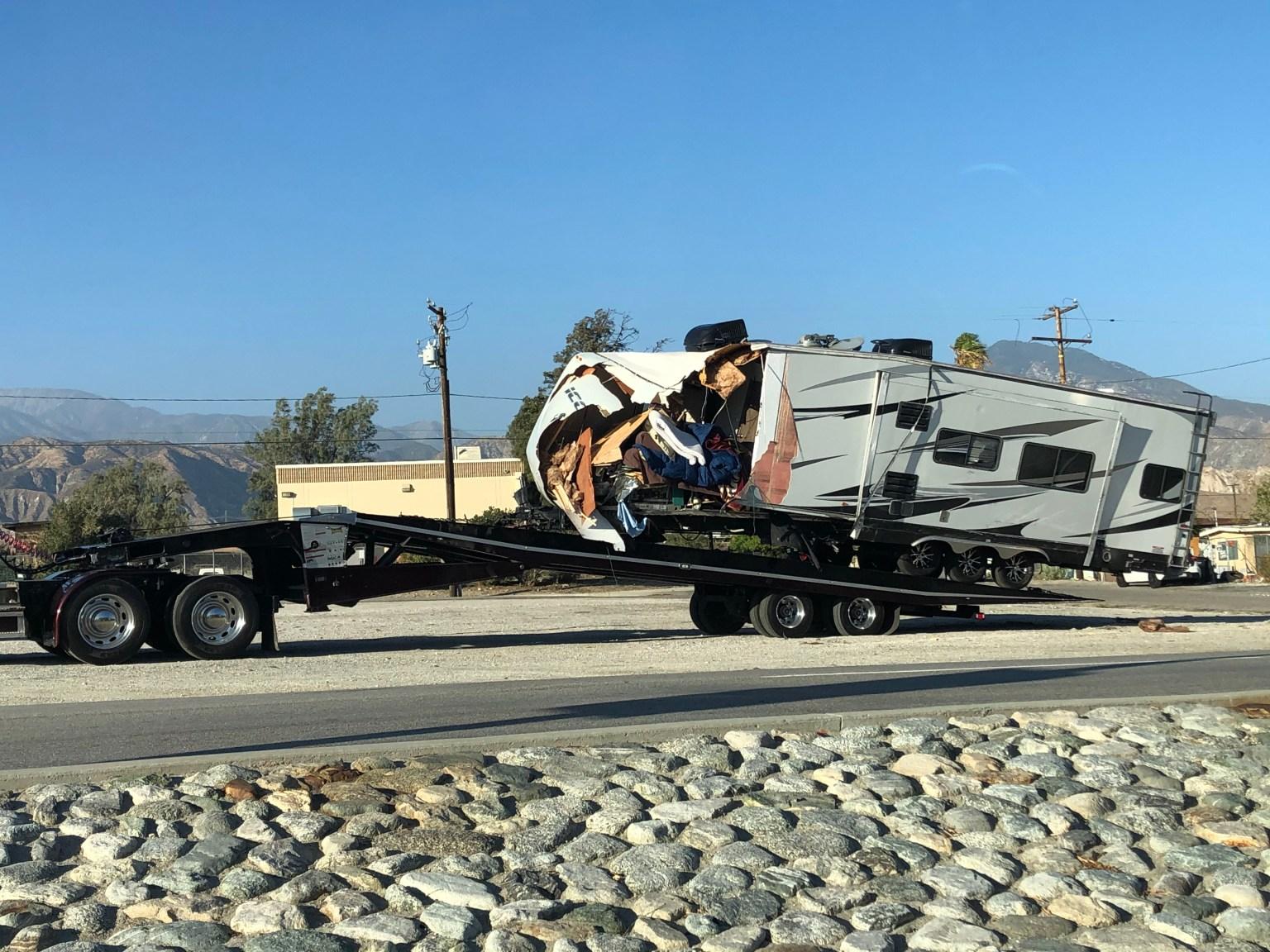 Pickup Truck, RV Collide on Interstate 10, Snarling Traffic