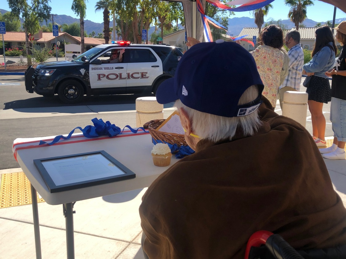 Local Veteran Celebrates 105th Birthday with Drive-By Parade