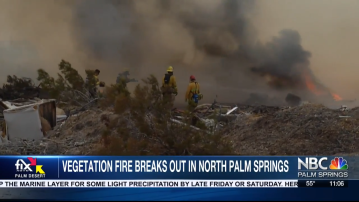 Refuse Fire in North Palm Springs Remains at 26 Acres, 50% contained