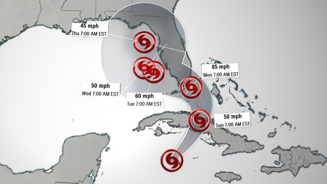 Tropical Storm Eta makes landfall in the Florida Keys