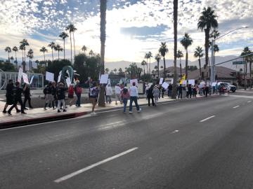 Palm Desert protest voices opposition to new public health order