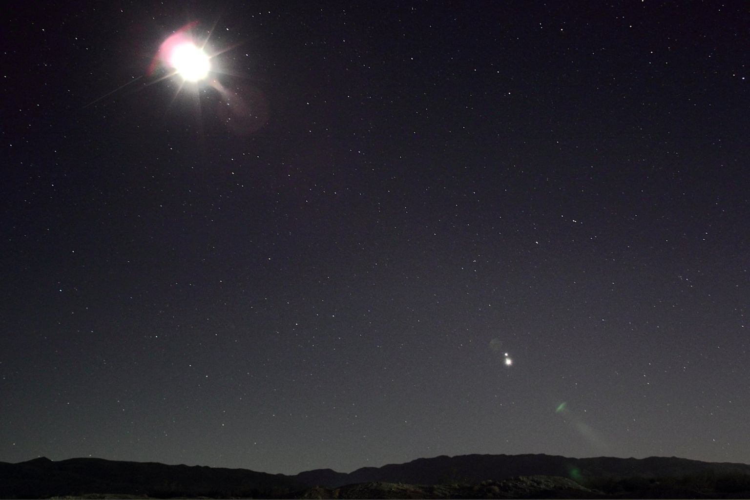 'Christmas Star' lights up the sky on first night of winter