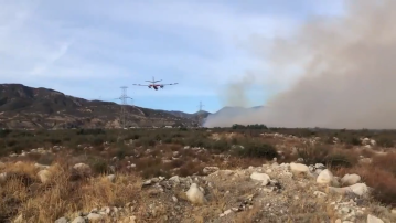 Wind-Driven Brushfire Sparks in Fontana