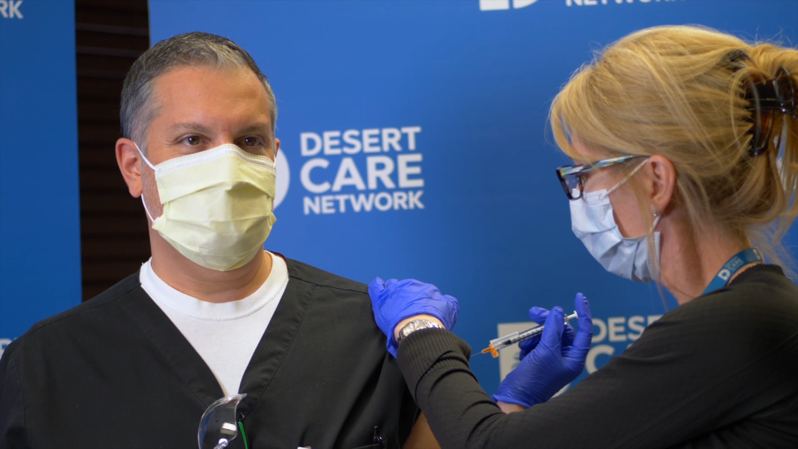 JFK Memorial Hospital in Indio Administers First Dose of Coronavirus Vaccine to Staff