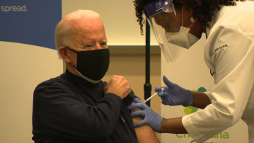 President-elect Joe Biden receives first dose of Covid-19 vaccine