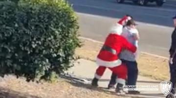 Undercover Officers Dressed As Santa and Elf Bust Suspected Thieves
