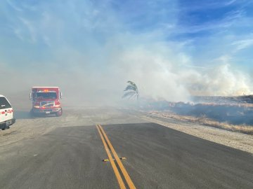 Firefighters Make Headway on Sanderson Fire Near Beaumont