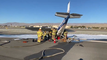 Small Plane Crashes Near Palm Springs Airport