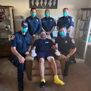 Indio Firefighter Returns Home After Being Hospitalized for Nearly a Month