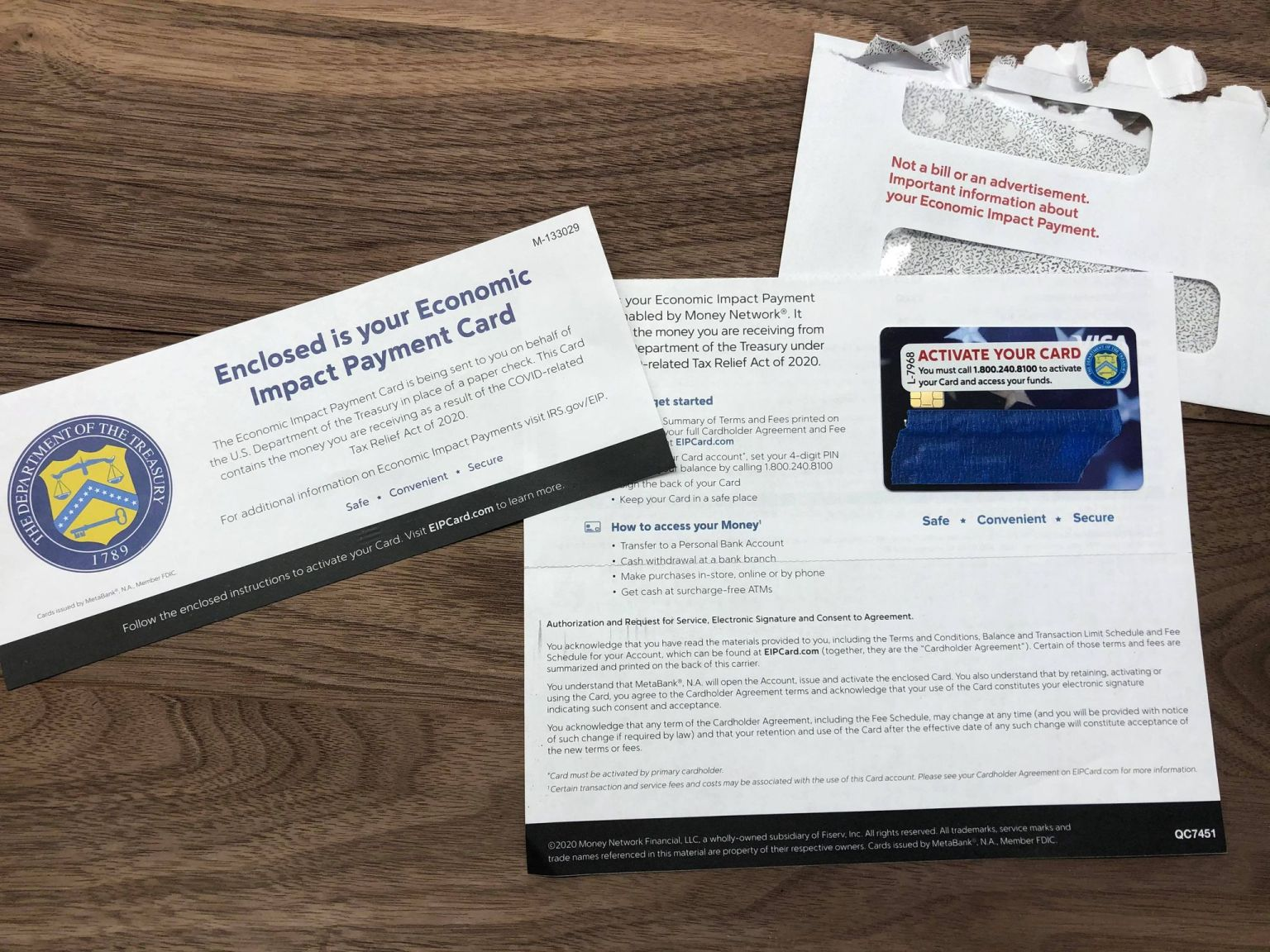 Transaction fees may apply to prepaid stimulus relief card