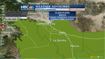 Flooding Possible in Coachella Valley Amid Santa Ana Windstorm