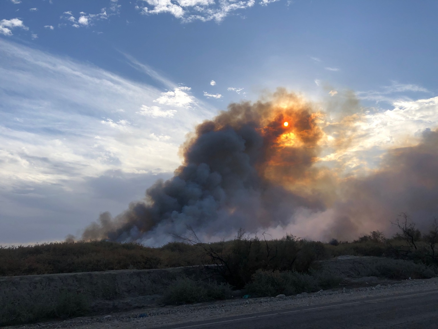 Brush Fire Burning Near Thermal now 43-acres, 50% contained