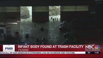 Body Of Infant Found In Trash In Perris