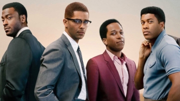 """One Night in Miami"" Interview – Leslie Odom Jr. (Sam Cooke) and Aldis Hodge (Jim Brown) Talk to Manny the Movie Guy"