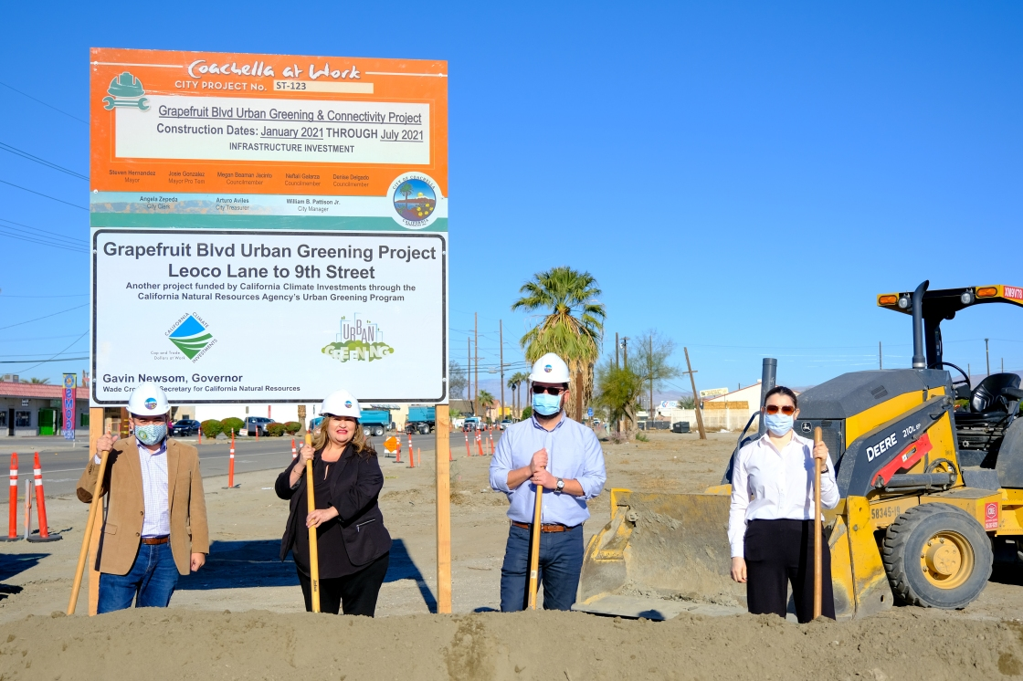 Officials in Coachella break ground for Grapefruit Blvd Urban Greening and Connectivity Project