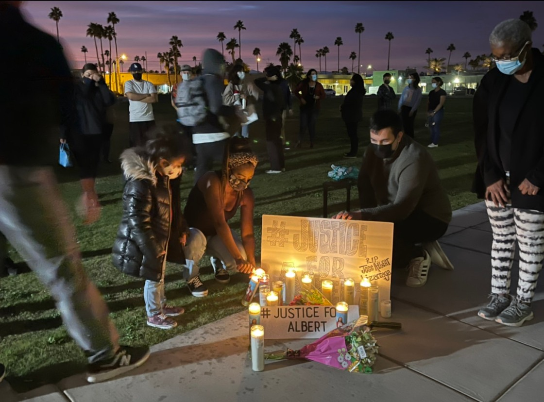 Family of Indio Man Who Died In Police Custody Hold Vigil for Justice