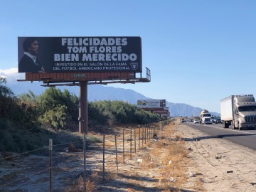 Coachella Valley billboard congratulates Tom Flores