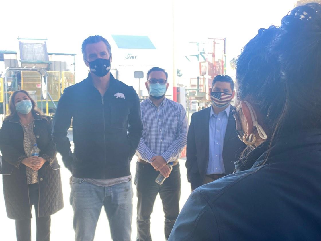 Gov. Newsom visits the Coachella Valley Wednesday morning