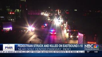 Pedestrian Killed in Freeway Crash in Indio