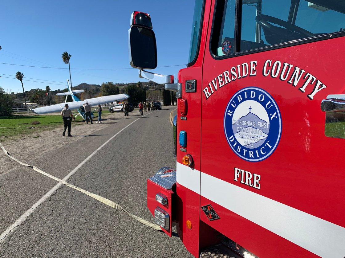 Pilot Makes Emergency Landing Following Engine Failure in Jurupa Valley