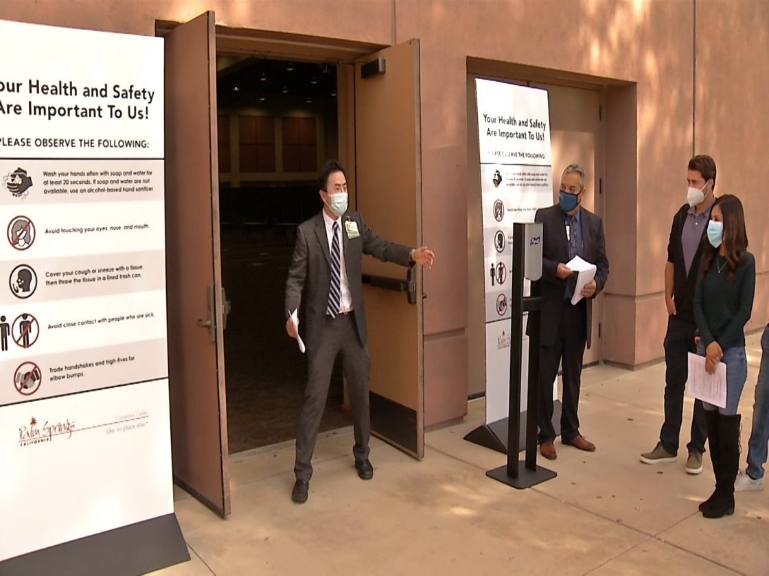 New Vaccination Site Opens At Palm Springs Convention Center