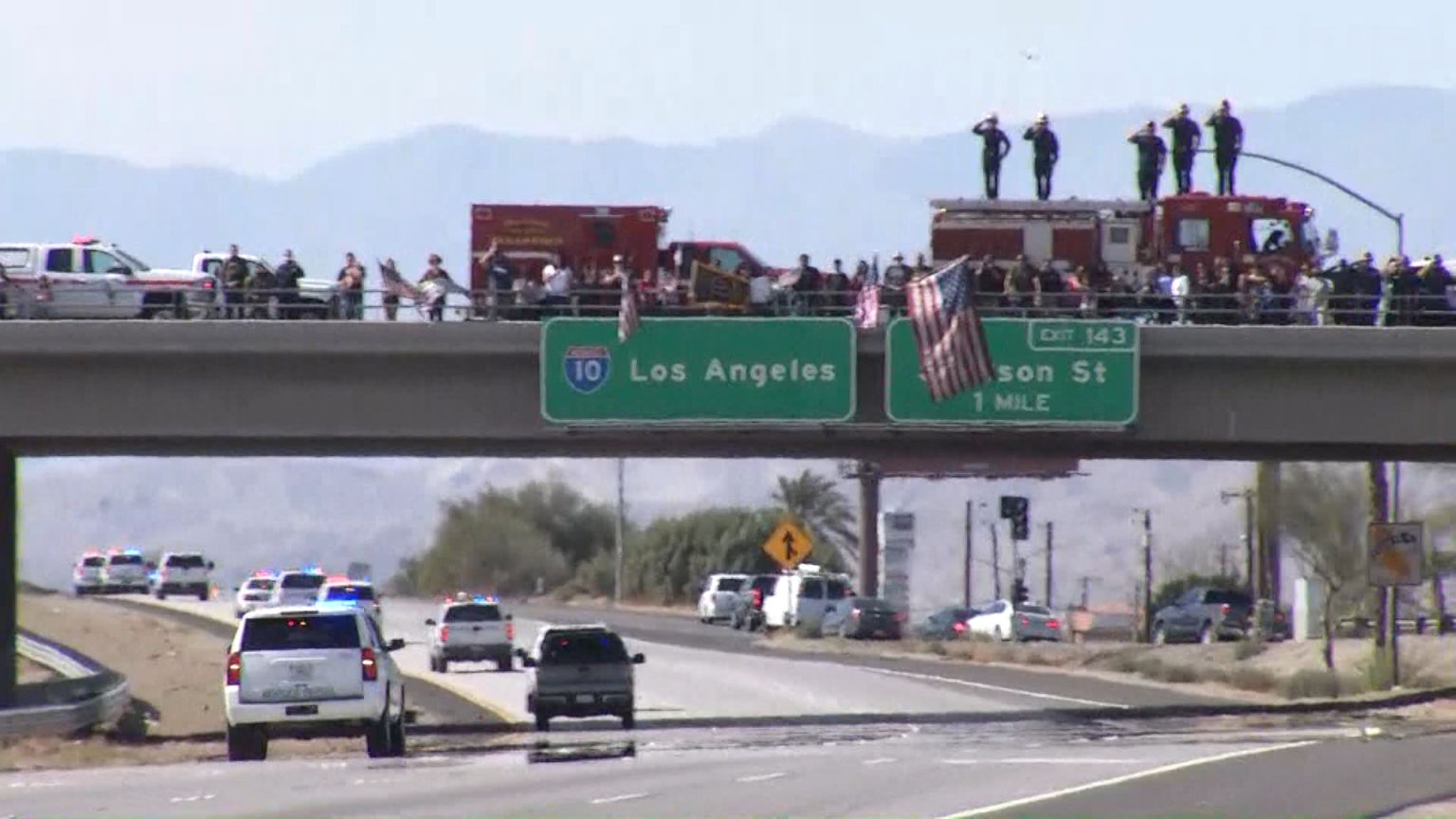 Procession through Valley honors Border Patrol Agent killed in the line of duty