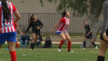 Youth soccer players return to the field in Coachella