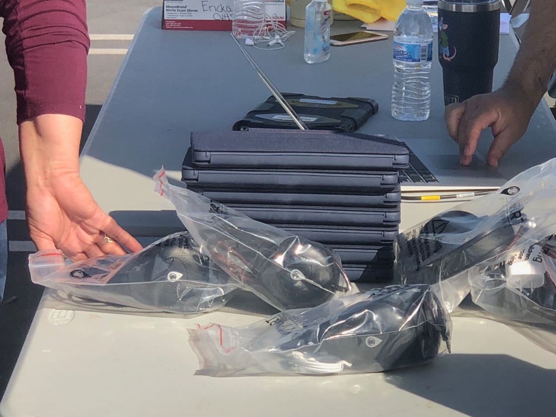 "CVUSD holds drive-thru iPad ""refresh"" for students"