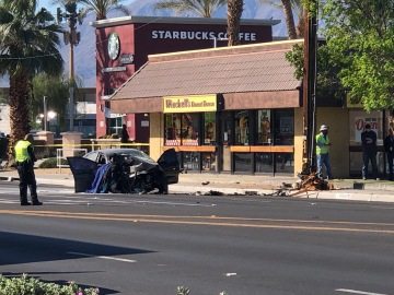 Part of Monroe St. in Indio remains closed after Tuesday car crash