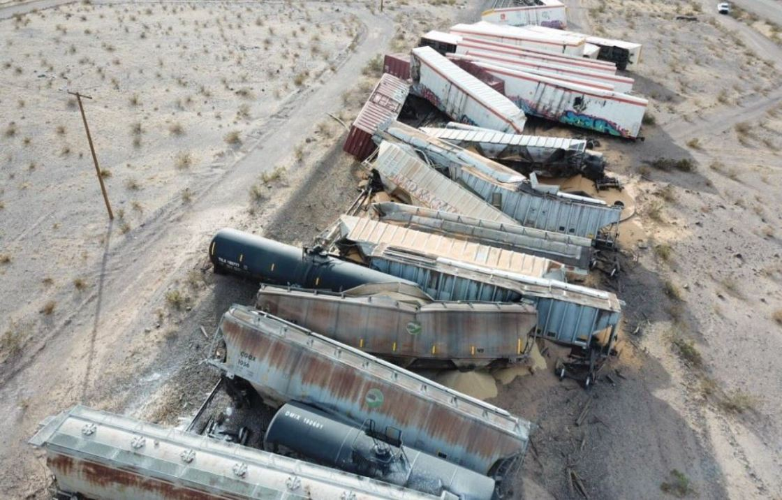 Train derailed Wednesday near Ludlow spilling flammable liquid