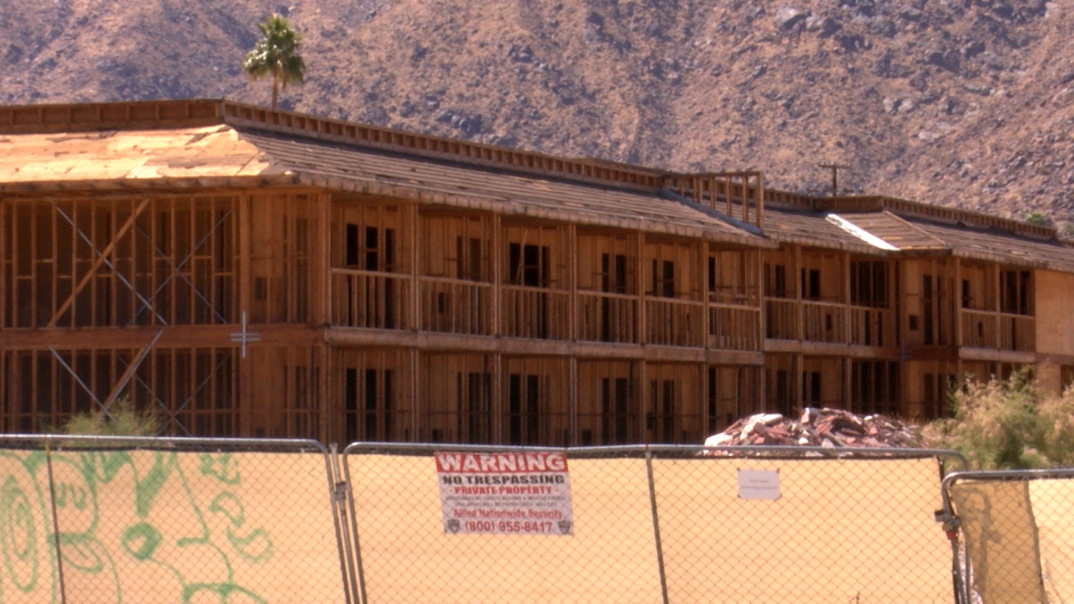 Palm Springs Taking Action On Unfinished Hotels