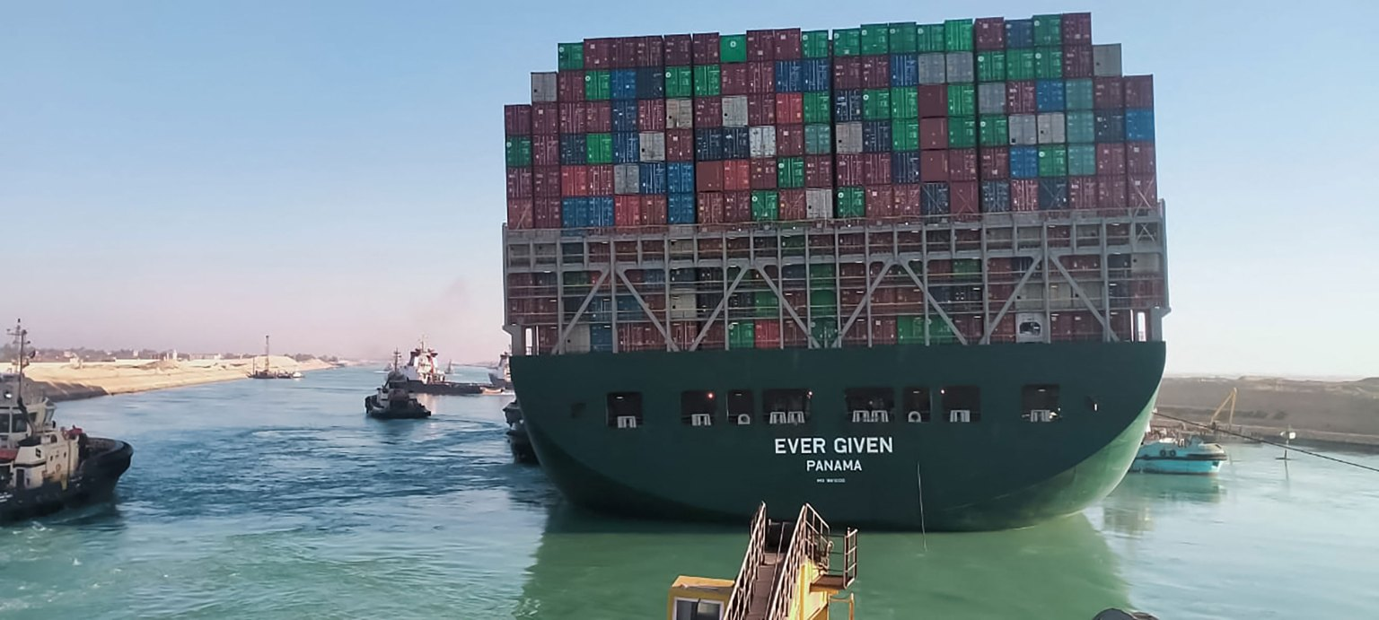Shipping container dislodged from Suez Canal