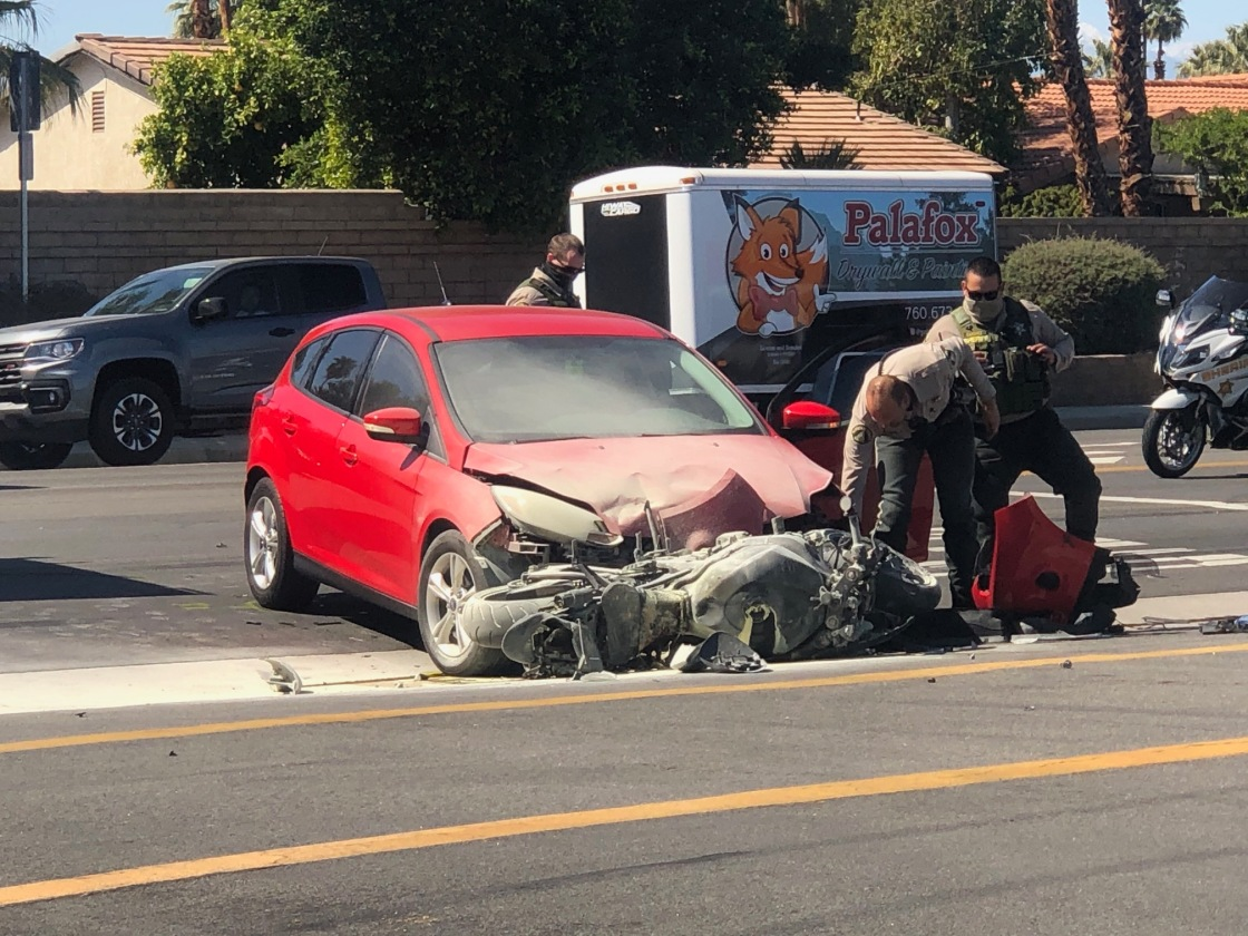 Palm Desert Collision Sends Motorcyclist to Hospital