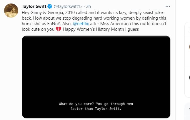 Taylor Swift didn't appreciate that 'Ginny & Georgia' joke