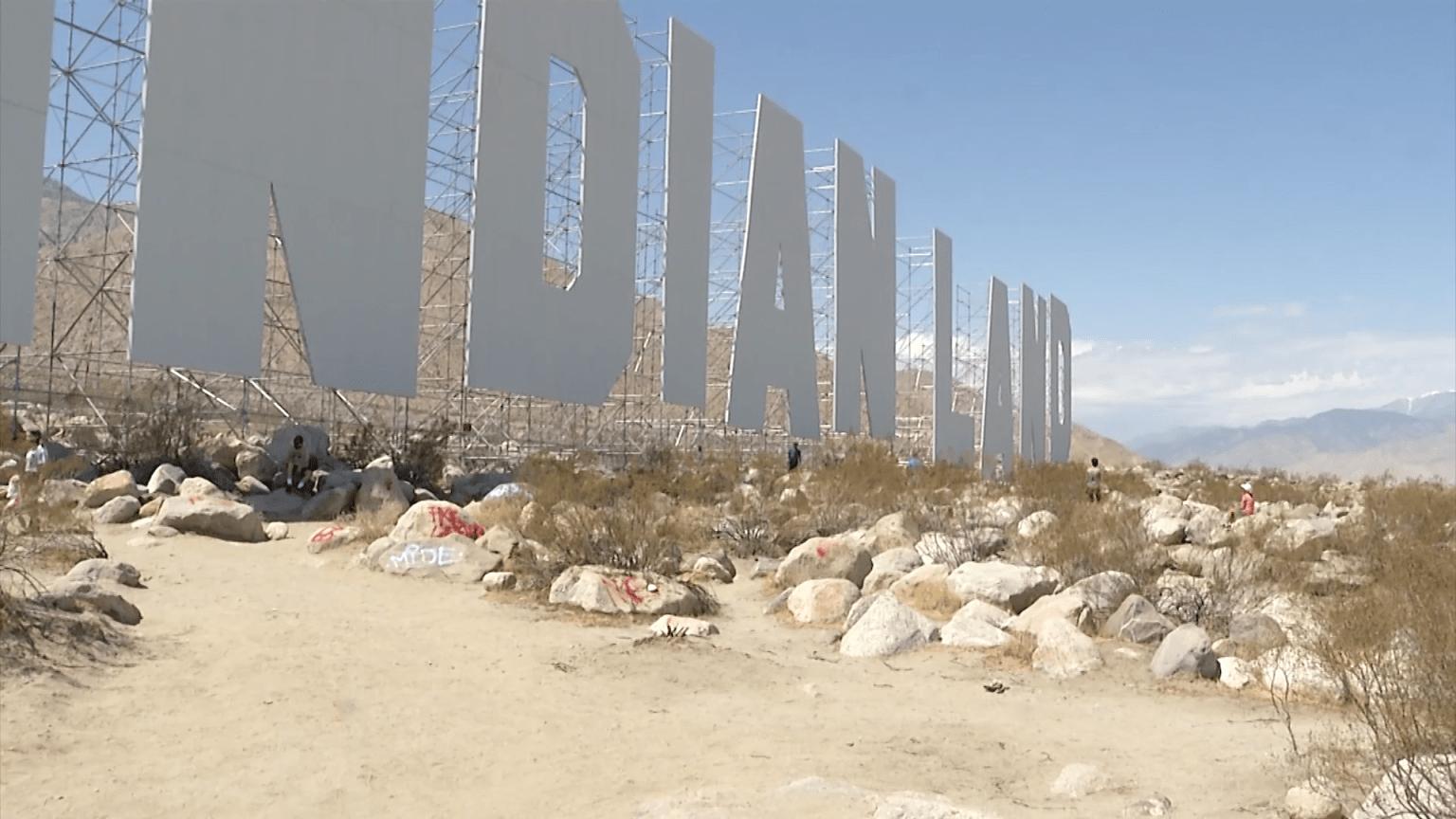 Vandals tag path to Desert X exhibit