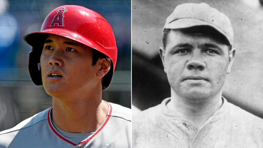 Angels' Shohei Ohtani becomes first pitcher since Babe Ruth to start game while leading MLB in homers