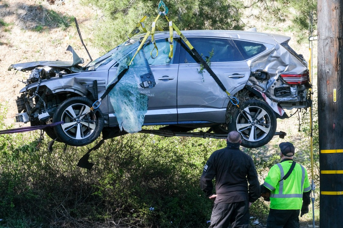 Sheriff: Tiger Woods Was Driving Over 80 mph, Causing RPV Crash