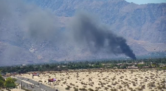 Smoke visible in west valley following house fire in Cathedral City