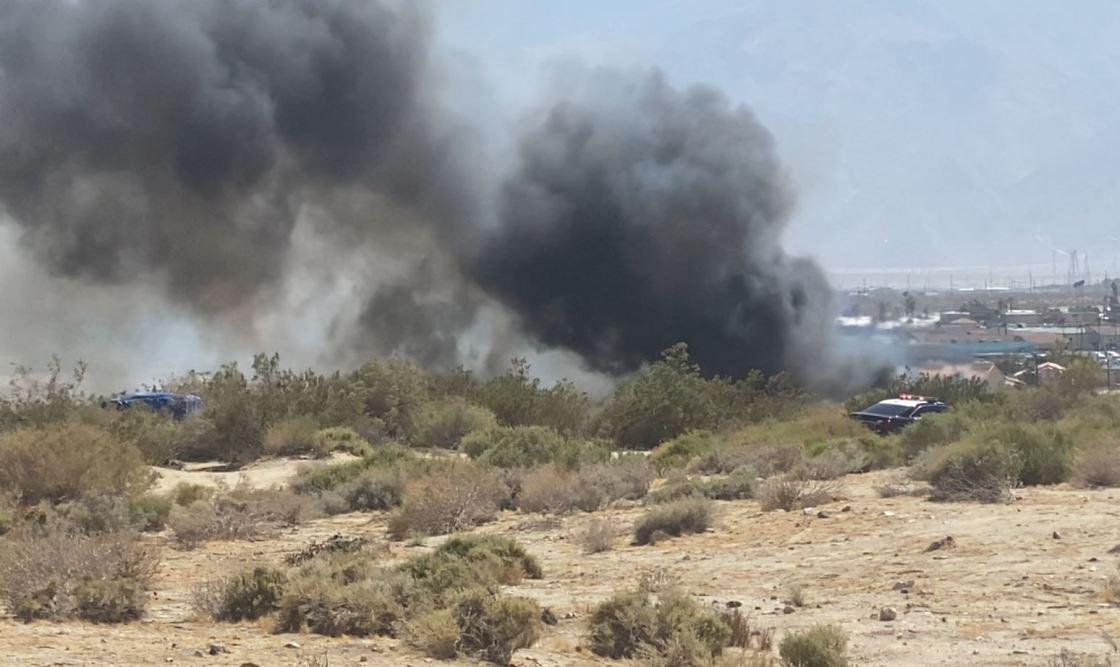 Fire Sparks at Desert Hot Springs Homeless Encampment, Five Vehicles Burned