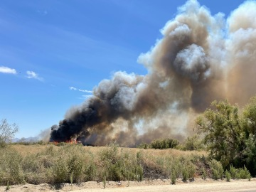 21-Acre Brush Fire Near Mecca is 75% Contained