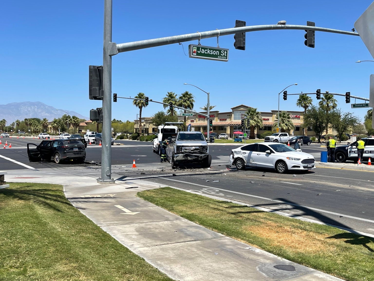 Wrong-Way Driver Killed, Passenger Severely Hurt in Indio Head-on Crash