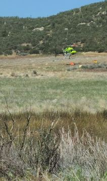 Brush Fire North of Highway 371 in Anza Burns 15 Acres
