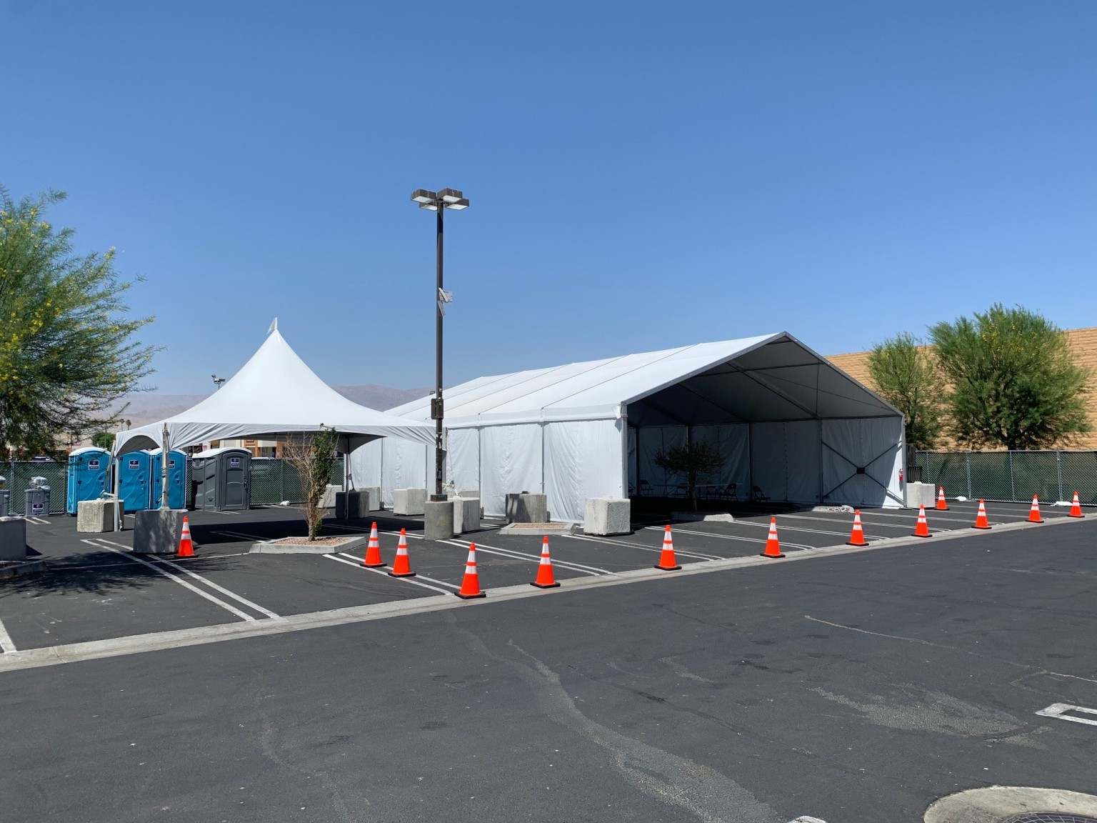 State provides vaccinations to local asylum seekers at Indio facility
