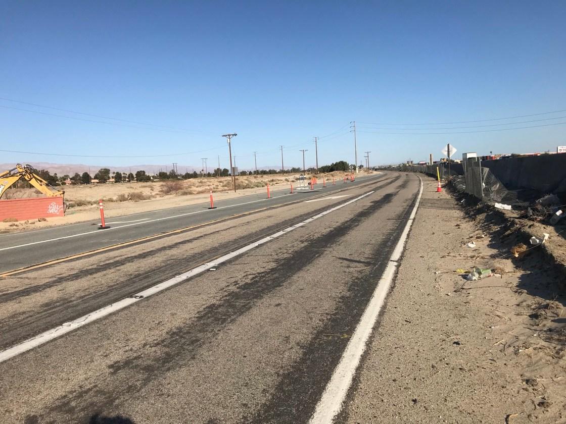 Road Work Underway on Varner Road in Thousand Palms