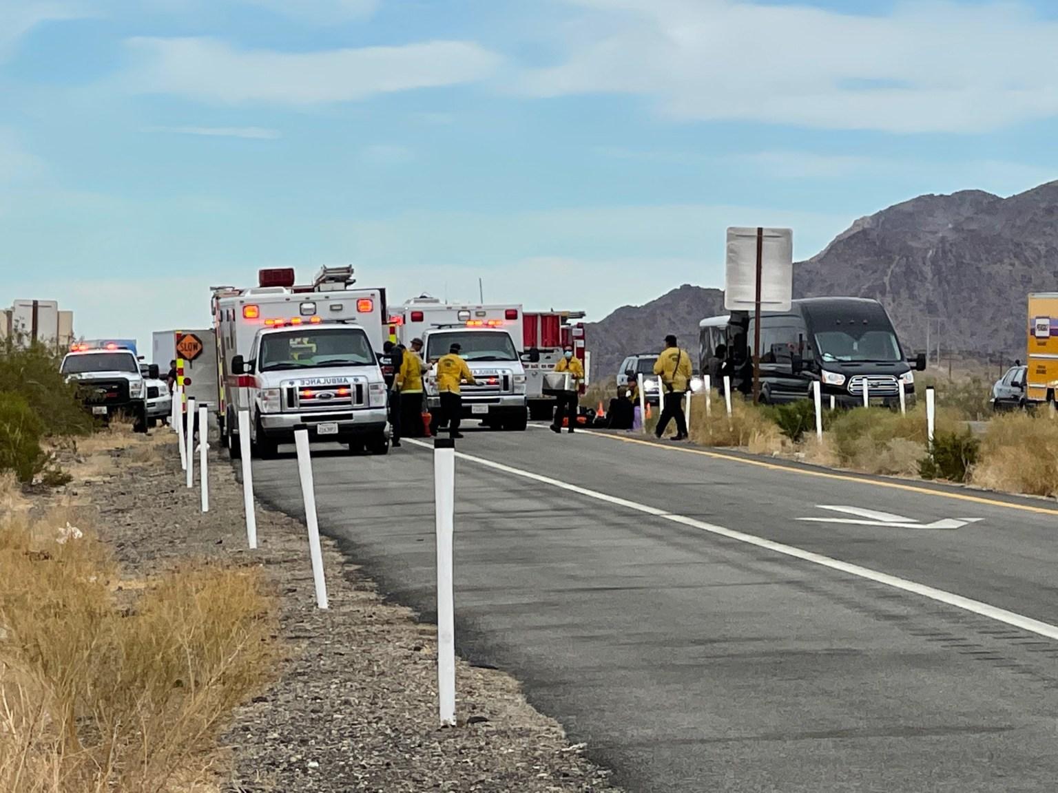 Emergency issue on I-10 in Desert Center, multiple people hospitalized