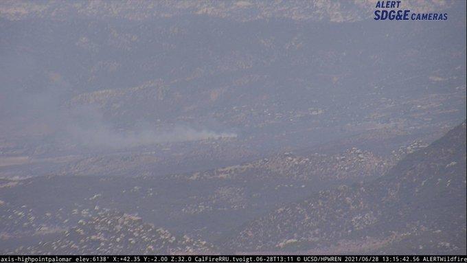 Fire sparks at marijuana farm in Anza