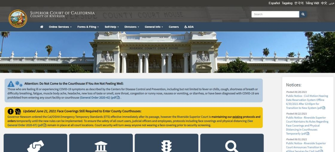 Fees Now in Effect to View Superior Court Criminal Records Online