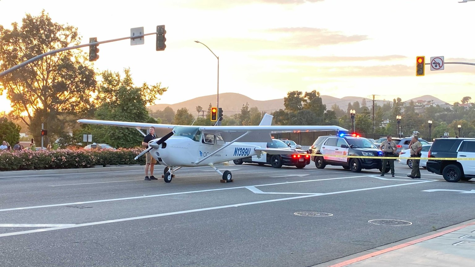 Plane makes emergency landing on freeway, no injuries reported